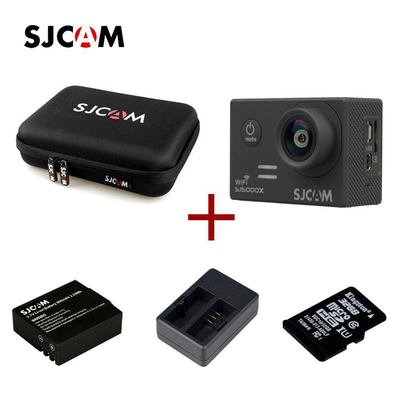 2015 신형 SJCAM SJ5000x 스포츠 액션 카메라 + 1x 스토리지 백 + 1 x 엑스트라 배터리 + 1 x 엑스트라 듀얼 슬롯 충전기 + 1 x 32G 카드