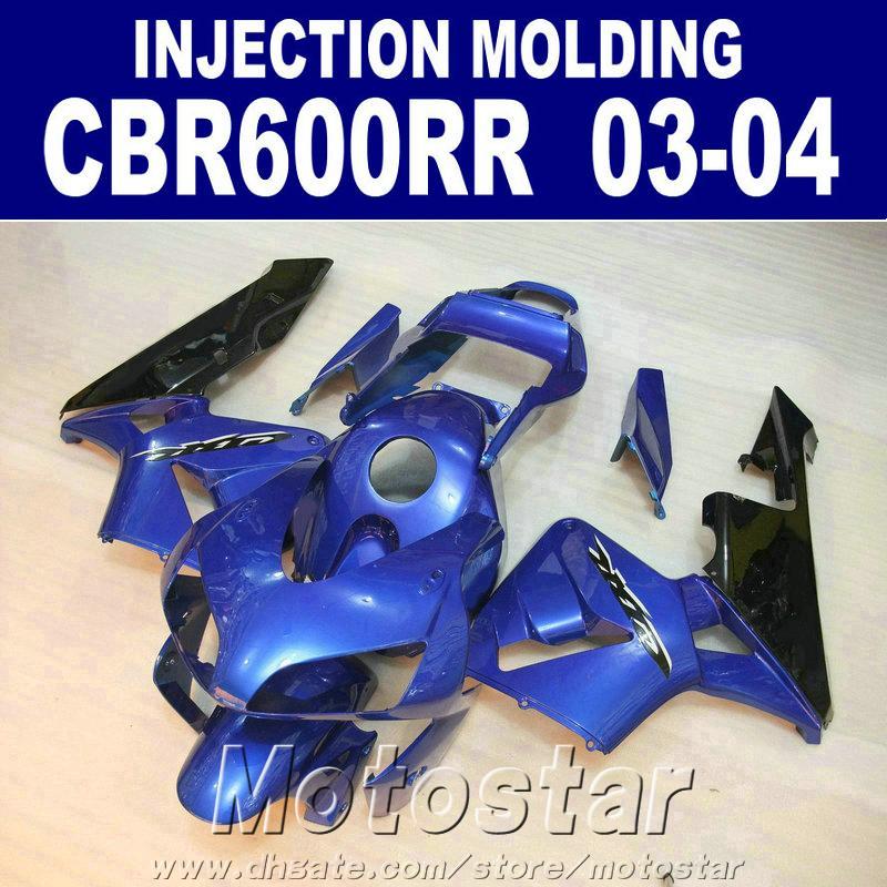 Kit carenature di alta qualità per carena HONDA CBR 600RR 2003 2004 stampaggio a iniezione blu 03 04 Carrozzeria moto CBR600RR Y6F8