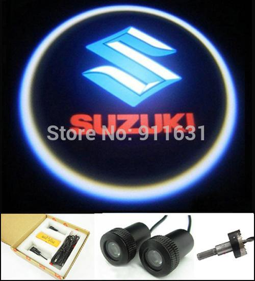 car LED Door Light Projector for Suziki Led auto Warning Welcome Projector decoration Logo lamp car styling accessories