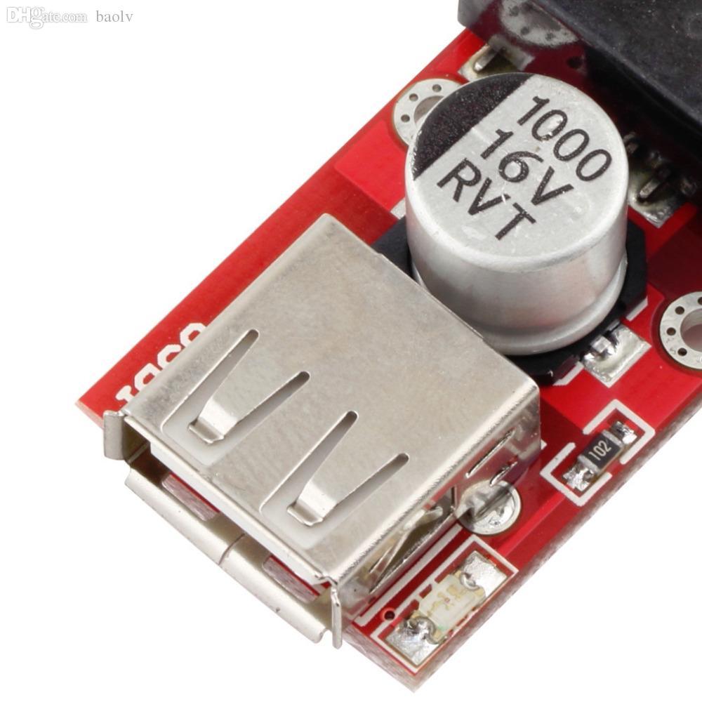 5V 3A 스텝 다운 벅 KIS3R33S 모듈 5V USB 출력 컨버터로 도매용 1Pc DC 7V-24V