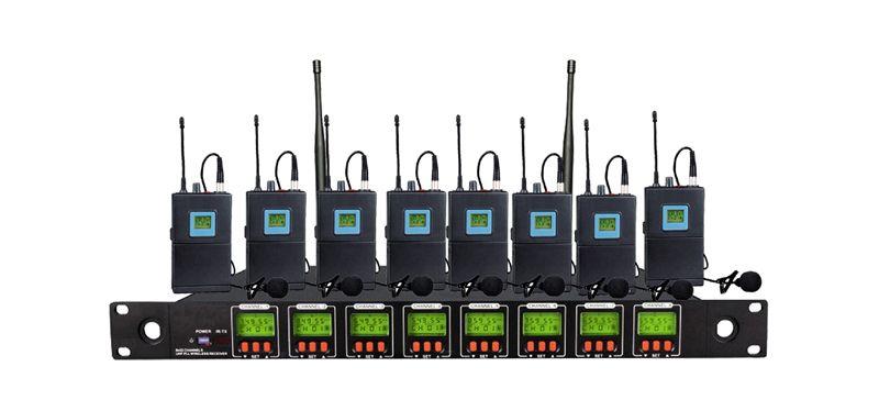 Envío libre OK-8 / 1B profesional Ocho canales de sistema de micrófono inalámbrico 8 canales multicanal Micrófono del cuerpo solapa Lavalier mic