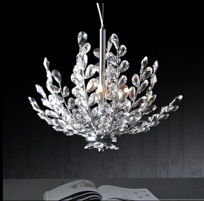 Free Shipping 3 Light Crystal Chandelier Light Floral French Crystal Lustre Light Cristal Suspension Hanging Lamp MD2367
