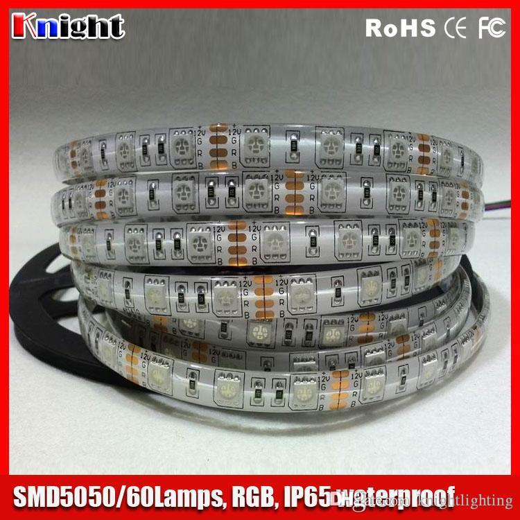 wholesale 5m rgb 5050 strip light lamp waterproof,rgb tape strip light smd5050 flexible led strip light 100m/lot smd 5050 led tape light 12v