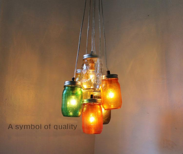 Home Decoration Pendant Lamps Bar Kitchen Decoration Lights Handcrafted Mason Jar Middle Ages Jar Decoration
