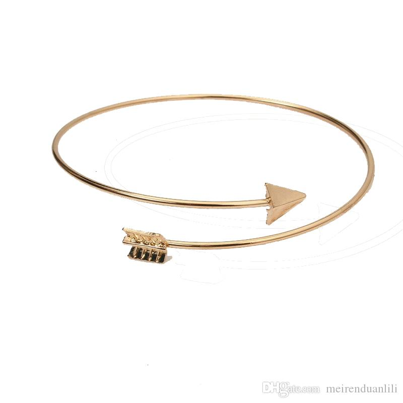 Arrow Opening Bracelet Rose Gold Color Female Fashion Jewelry For Women Men Free Shipping Wholesale Jewelry Wedding Accessories Gift