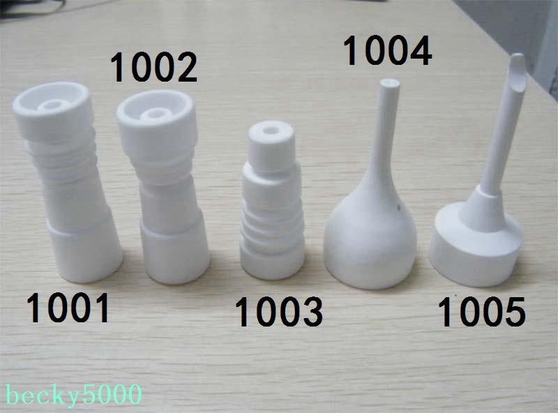 1 adet ADEDI 14mm / 18mm ile domeless Seramik Çiviler erkek / kadın cam kadın ortak, ceremic vs titanum tırnak yapılmış Domeless Seramik Tırnak