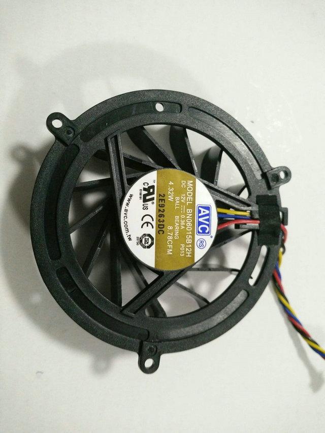Nieuw origineel voor AVC BN06015B12H 12V 0.36A dubbele kogellager Vierdraad PWM Koelventilator