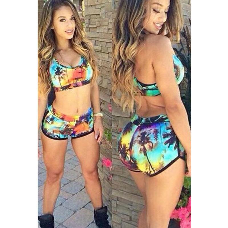 3e7cfd1b0e 2019 Romantic Sunset Print Bikini Bathing Suit Bikinis Women Summer Thong  Swimsuits Maillot De Bain From Cwq10, $20.5 | DHgate.Com
