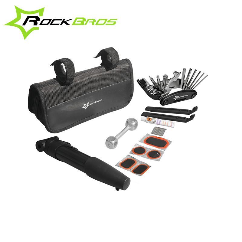 RockBros Bicyle Bike Portable Tyre Repair Tool Kit Bag Multi-function Tool