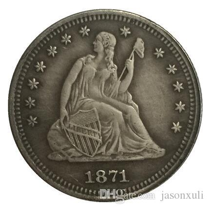 1871-S جالس ليبرتي كوارتر نسخة مجانية SHIPPIN