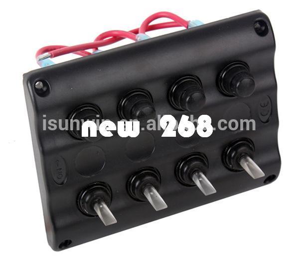 4 Gang LED Car Boat Interruptor de Alternância Painel 2 Tomada USB e 1 Cigaretter Plug Frete grátis