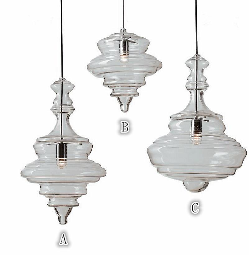 Il trasporto libero nuovo modo caldo moderno di vendita personalità creativa lampada di pendente di vetro per la sala da pranzo bar di caffè E27 lampadine del LED