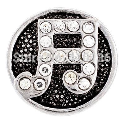 NSB1352 Gorąca sprzedaż Snap Charms Note Snaps Vintage Snap Przyciski Biżuteria Moda DIY Biżuteria Stop Crystal Charms