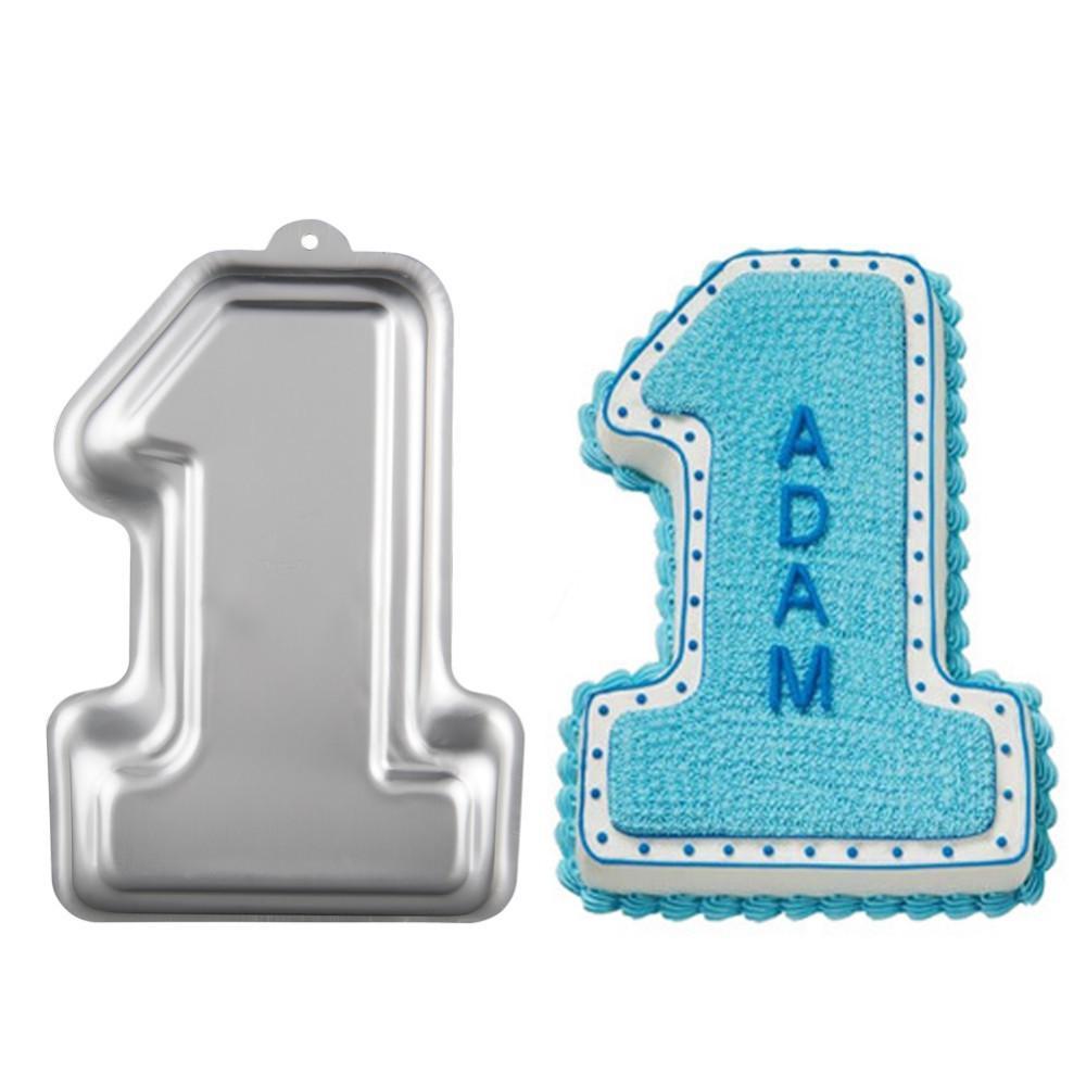 3D رقم واحد 1st كعكة عموم الخبز العفن القصدير المطبخ العفن فندان خبز الخبز شحن مجاني ، dandys
