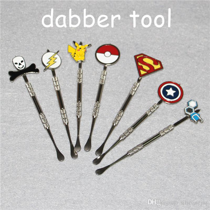 New design Stainless steel ecig dabber tool titanium dab nail for wax skillet snoop dogg atomizer g Pro vaporizer pen