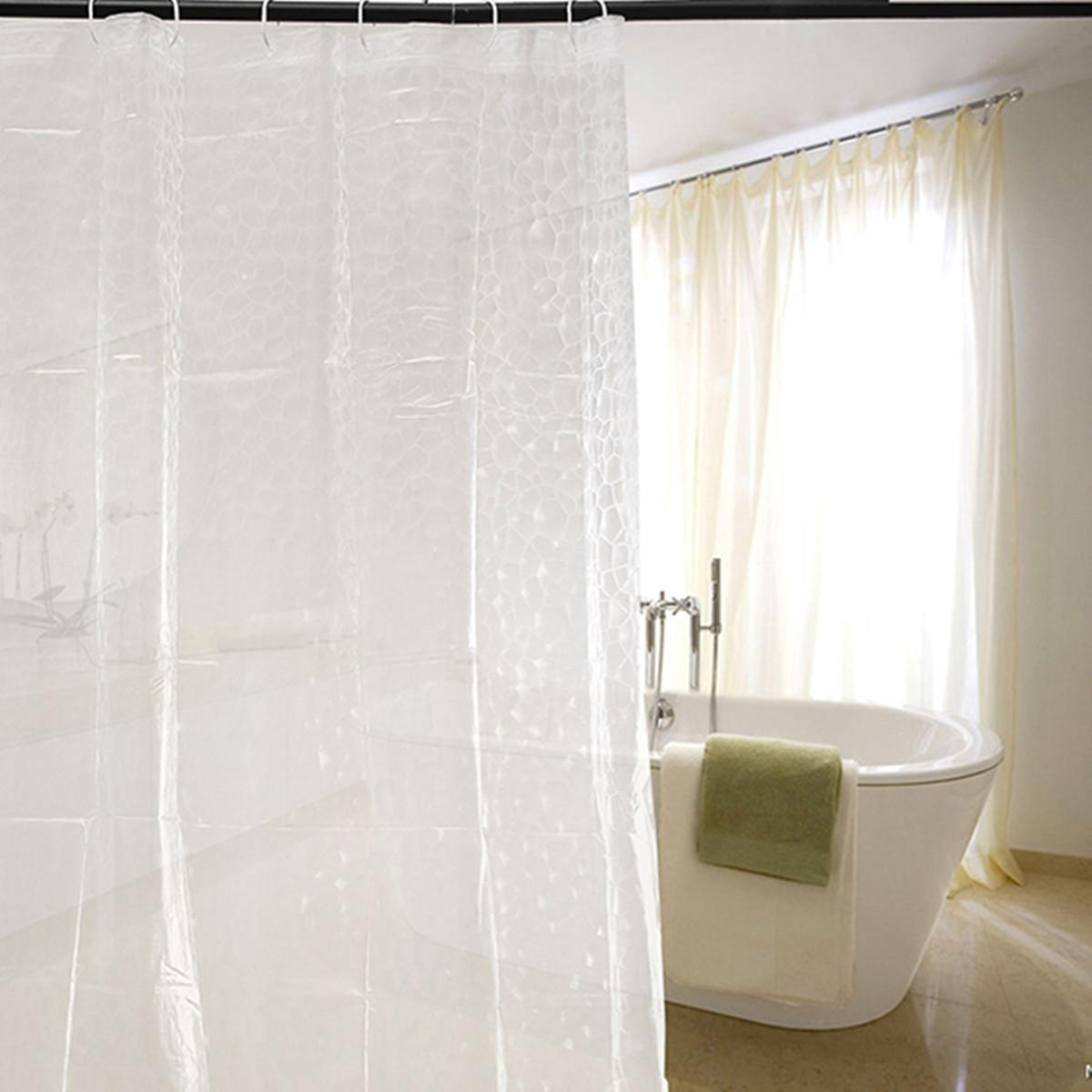 New 180*180cm 3D Water Effect Cube Design Shower Curtain Water Resistance  Bathing EVA Clear Thicker Waterproof Bathroom Curtains 2018 from dh527, ...