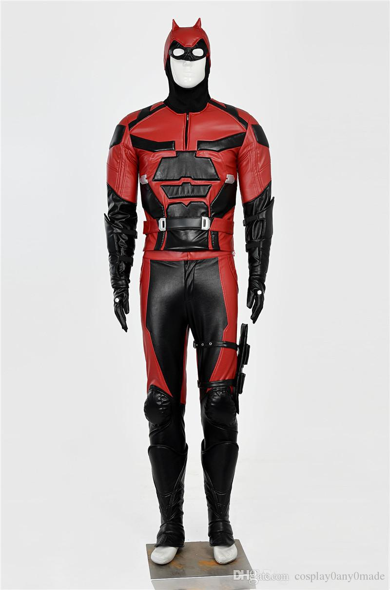 Daredevil Costume fullbody Suit Adult Men's superhero For Halloween Cosplay Costume For New Mouvie Custom any Size made