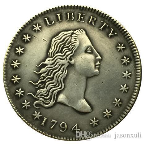1794 type1 رايات تمثال نصفي الدولار عملة نسخة شحن مجاني