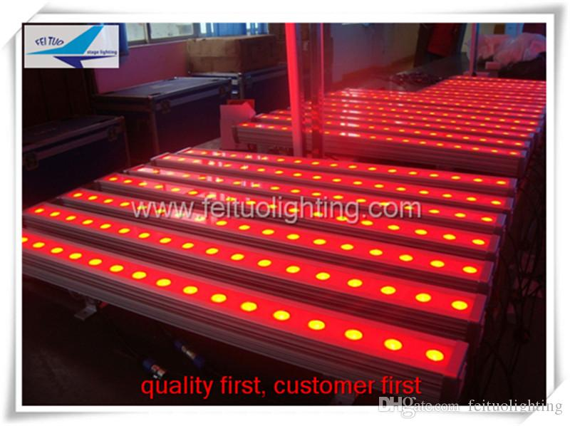 18 pcs rgb 3in1 tri cor led wall washer luz iluminação de palco 18x3 w ao ar livre luzes led wall washer