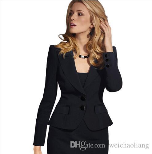 Lcw New Fashion Womens Autumn Winter Long Sleeve Turn Down Collar Button Wear to Work Business Office Outwear Jacket Blazer