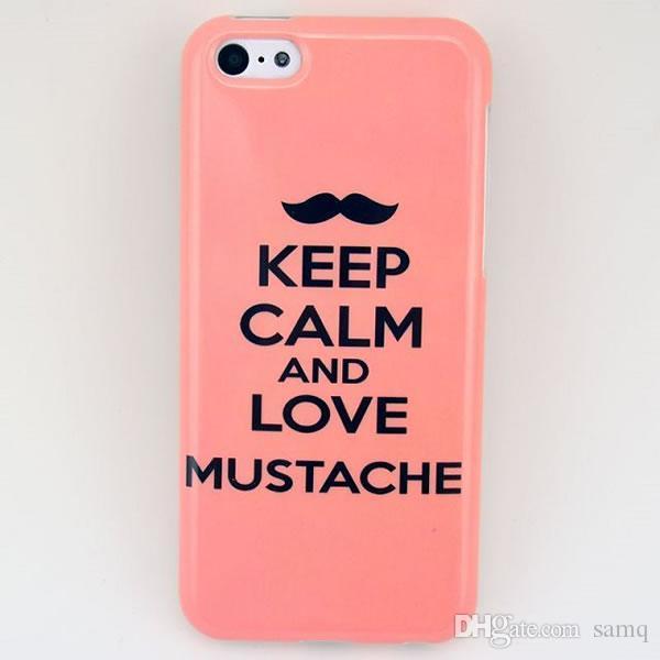 Coques Mobile Keep Calm And Love Moustache TPU Phone Case Pour Iphone 5C Jzv Ysg Coque Téléphone Portable Proposé Par Samq, 8,08 € | Fr.Dhgate.Com