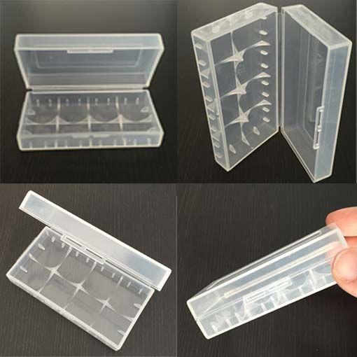 Récipient de stockage portatif en plastique de cas de batterie de boîte Conteneur de stockage de piles colorées pour 2 * 18650 ou 4 * 18350 li-ion batterie e-cig DHL