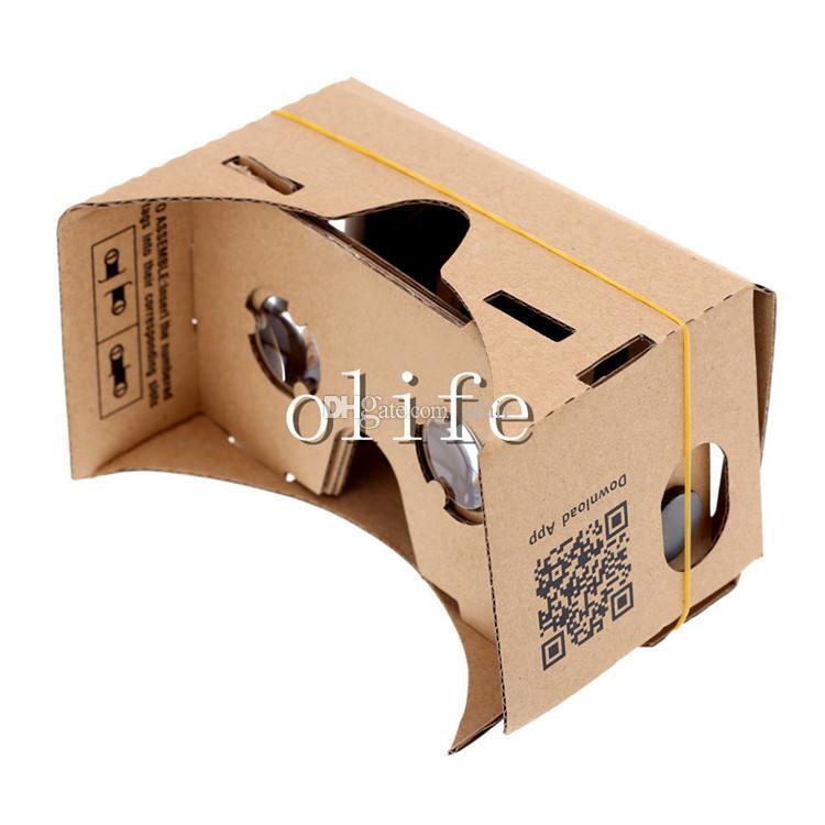 NUOVO fai da te Google Cardboard VR Phone Virtual Reality Viewing Vetri per iPhone 6 6s Plus Samsung S6 Edge S5 Nexus 6 Android
