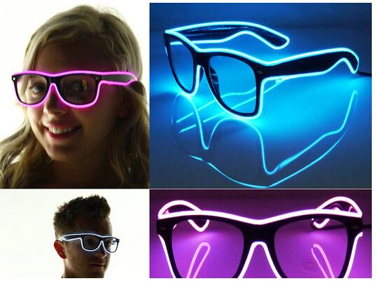 El Wire Glow Sun Glasses Led Dj Bright Light Safety Light Up Multicolor Frame Voice Control Led Flashing Glasses Switchable Smart Glass Buy Smart