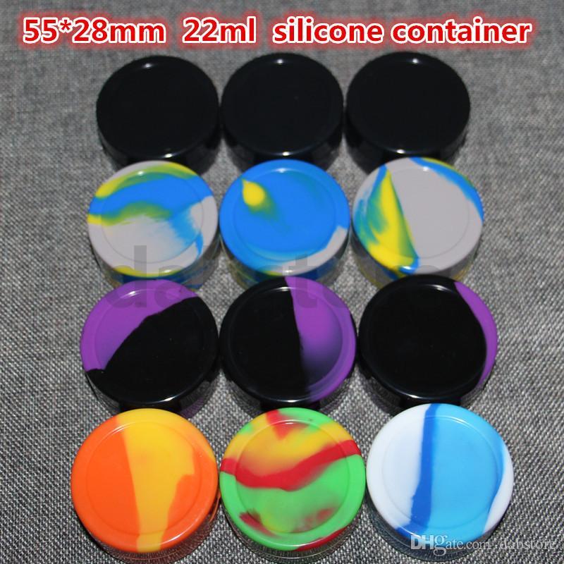 Contenitore da 22 ml vasetto dab di cera xxl vaso siliconato 22ml contenitore siliconico 22ml grande contenitore alimentare dabber silicio erba secca strumento