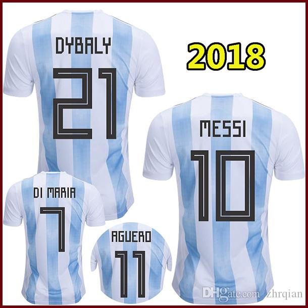 sale retailer 5f3b7 06c41 2019 2018 Argentina Soccer Jerseys MESSI 2018 World Cup Argentina National  Football Shirt DYBALA Camiseta AGUERO DI MARIA PASTORE ICARDI Maillot From  ...