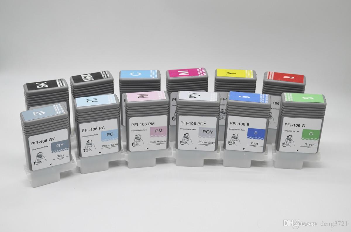 Патрон чернил ipf6300 ipf6400 IPF6450 IPF6350 для бака чернил канона PFI-106. 130мл, 12 ПК / серия