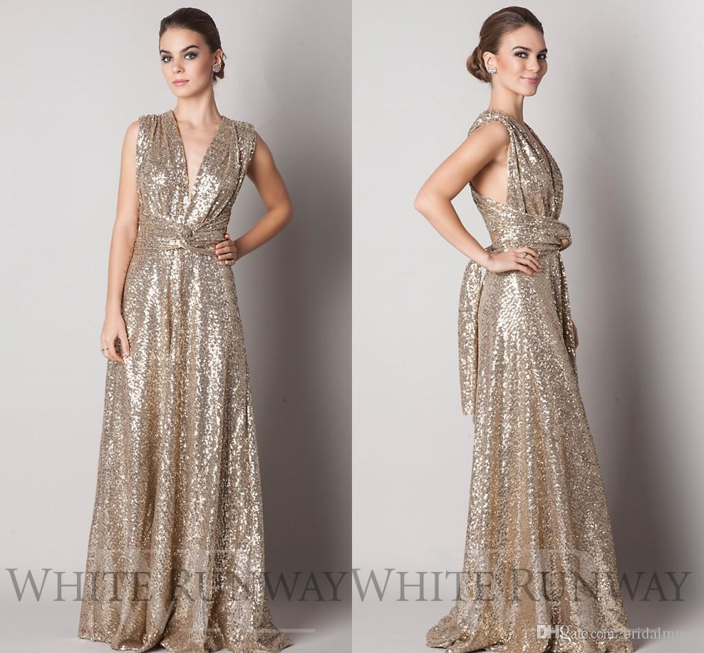 Gold Sequin Bridesmaid Dresses 2018