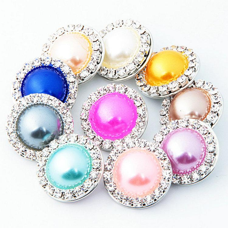 Wholesale Multi Color Rhinestone Snap Charms 18mm Snap Button For Snap Jewelry
