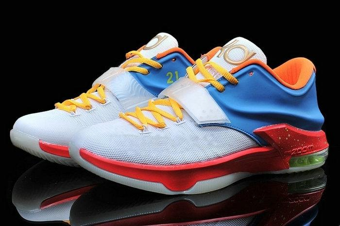 Basketball Shoes Blue And Gold Kds