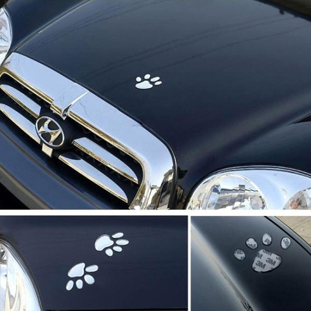 Car body sticker design for sale - New Arrive 2 Pcs Bear Paw Footprints Design 3d Sticker Decoration Car Sticker 6 5 X 6cm Hot Sale