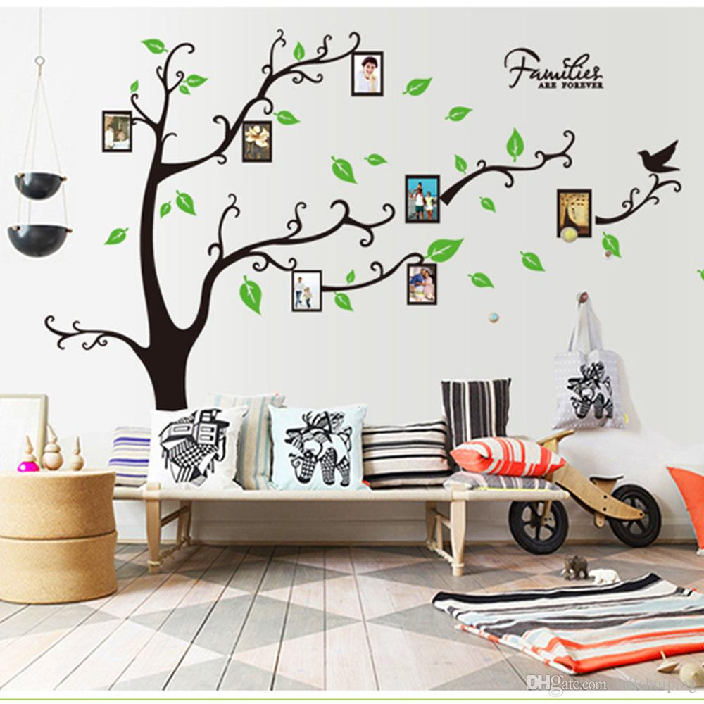 Wall stickers diy -  Large Size Black Family Photo Frames Tree Wall Stickers Diy Home Decoration Wall Decals Modern