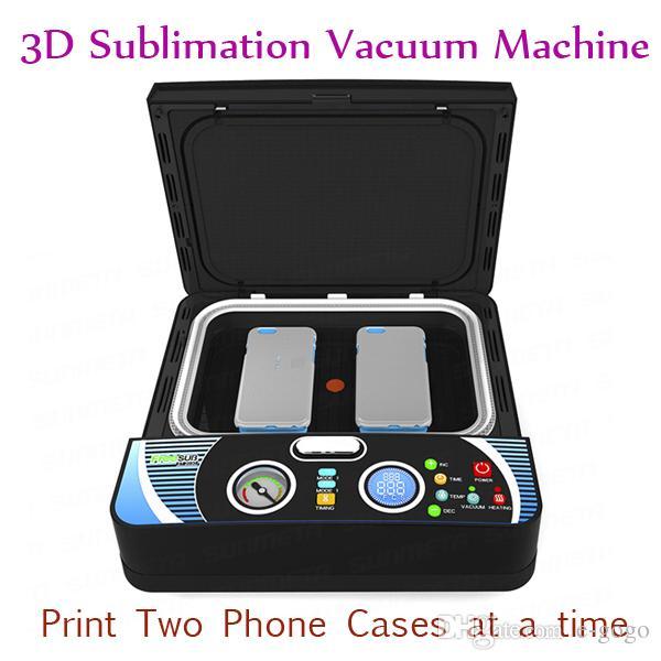 ST-2030 الذكية 3d فراغ الحرارة آلة الصحافة الحالات الهاتف التسامي نقل الحرارة آلة اثنين من حالة الهاتف 400W 110V 220V