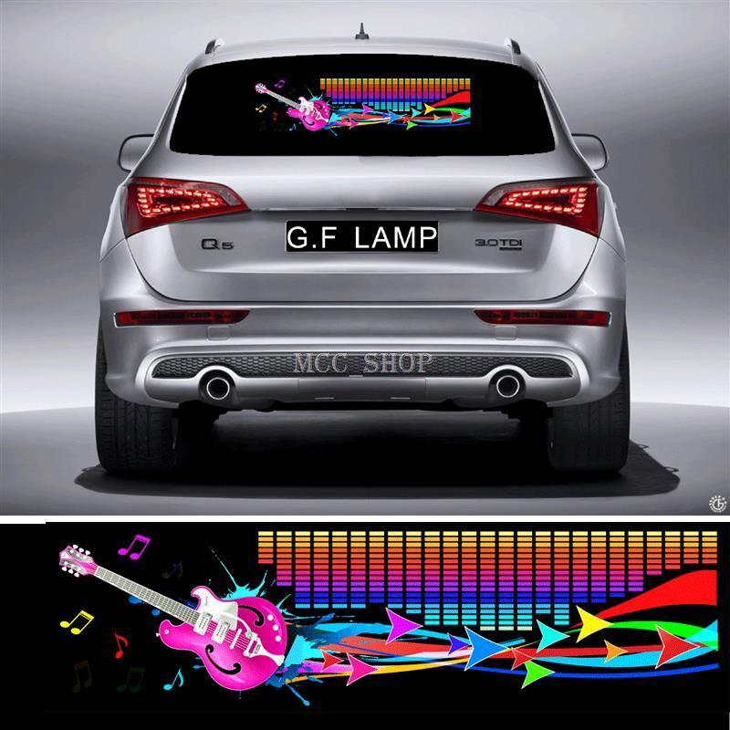 90 * 25cm Streamer Gitarre Flash Car Sticker Musik Rhythmus LED EL Blatt Licht Lampe Sound Musik aktiviert Equalizer