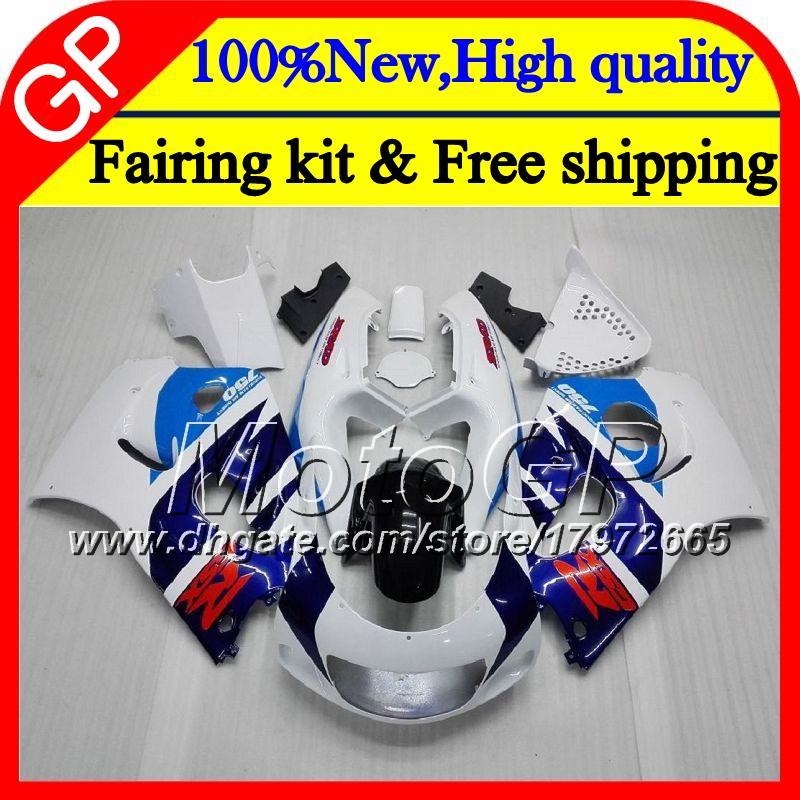 Bodys For SUZUKI SRAD GSXR 600 750 96 GSXR750 Blue white 96 97 98 99 00 20GP7 GSX-R600 GSXR600 1996 1997 1998 1999 2000 Motorcycle Fairing