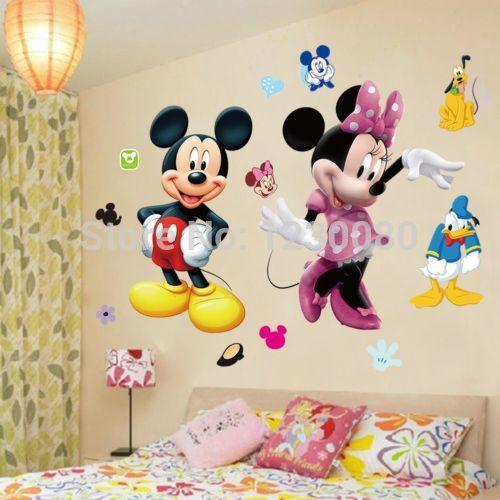 Vinilos Mickey Mouse Para Pared.Compre Mickey Mouse Minnie Vinilo Mural De La Pared De La Etiqueta Engomada De La Decoracion Del Sitio Del Cuarto De Los Ninos Ws A 7 22 Del Taigu502