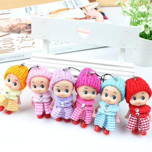 Atacado- 2017 NEW Kids Toys Soft Baby Dolls Interactive Toy Mini Doll Para meninas e meninos 6pcs / set