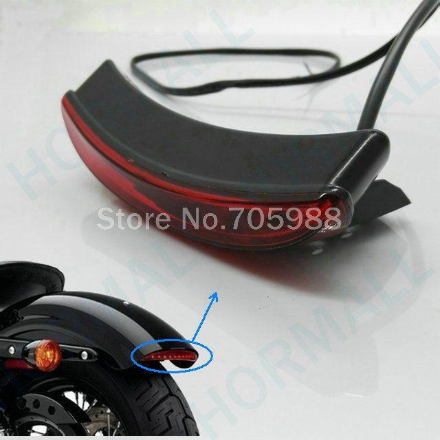 Luce del freno del motociclo della coda del motociclo rosso universale per la luce del motociclo per Harley Bobber Chopper Rat