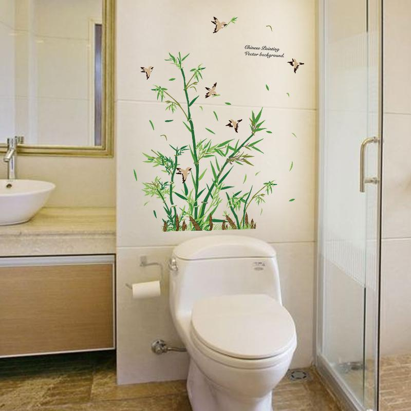 Acheter Nouveau Design Bambou Stickers Muraux Salon Salle De Bains  Carrelage En Verre Décoration De La Maison Art Stickers Intérieur Mural De  $9.94 Du ...