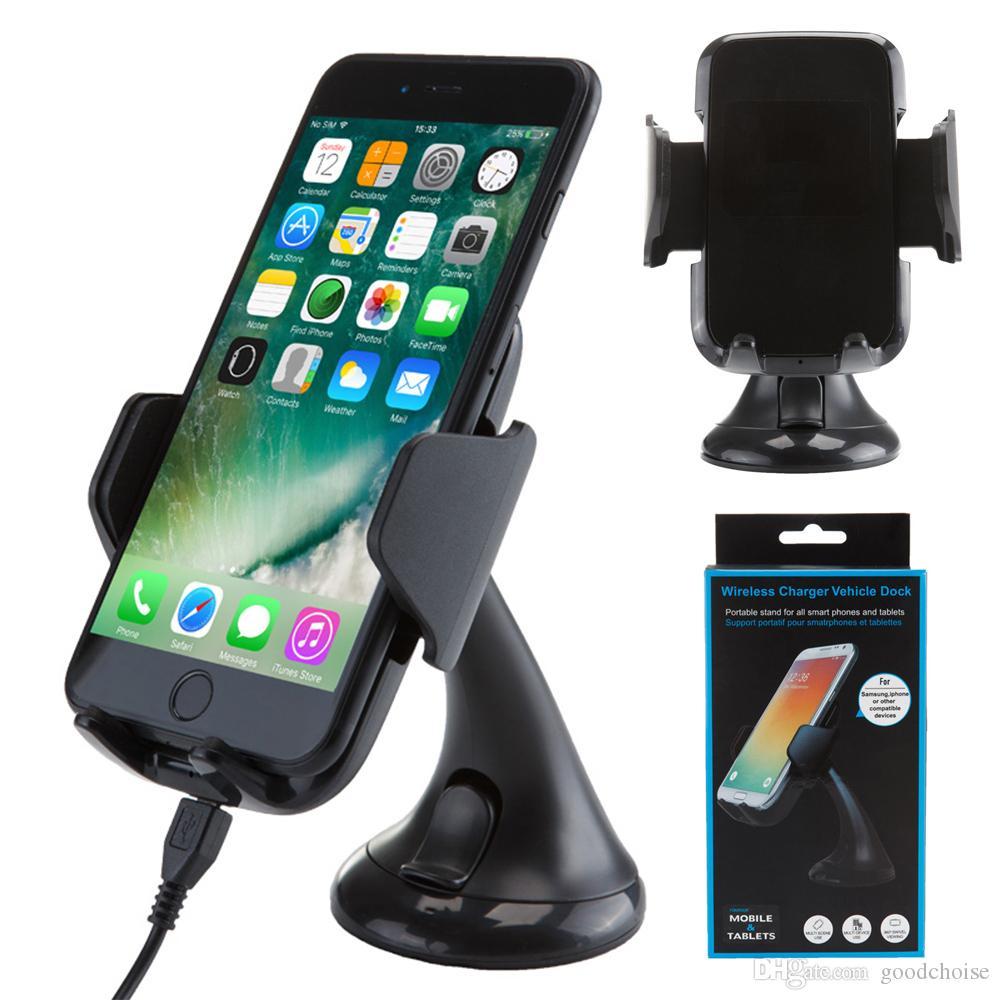 10w Wireless Car Charger holder Antye Qi Vehicle Wireless Charging Dock for ip X XS MAX Samsung S9 note9 S10 charger