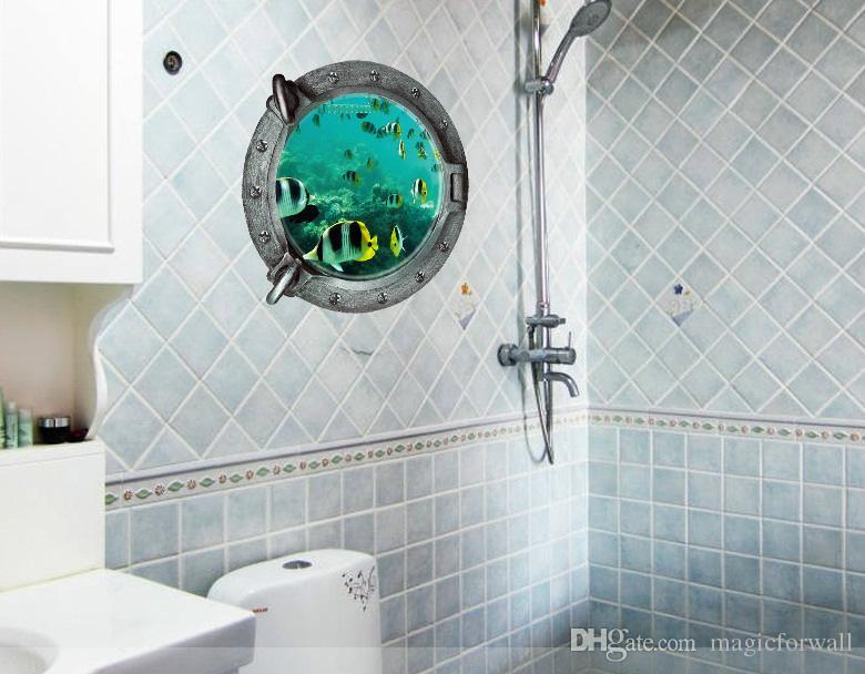 Diy Tropivsl Fish Wall Sticker Home Decor Decal Art Kids 3D Stickers Bathroom