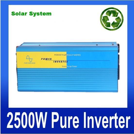 5000W picco 2500W Inverter a onda sinusoidale pura da 12V24V48V ad ac 220v