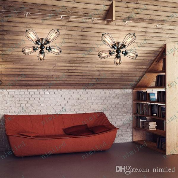 Nimi577 Amerikanischen Dorf Retro Kreative Schmiedeeisen Deckenleuchte Loft Art Industry Beleuchtung Lampe Fr Bar Cafe Wohnzimmer