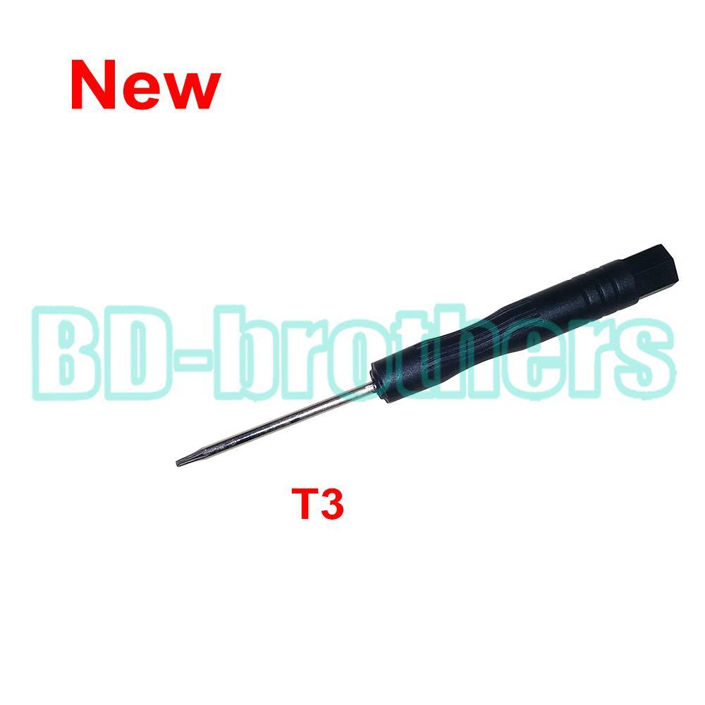 새로운 Stype 블랙 T3 드라이버 Torx 스크류 드라이버 하드 디스크 회로 기판 전화 개통 수리를위한 도구 열기 1000pcs / lot