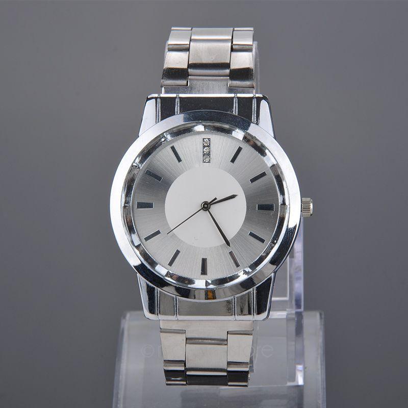 ABD Stok, Severler Saatler Kristal Kakma Tam Çelik Kuvars İzle Kadınlar Erkekler Casual Saatı Gümüş relojes Y55 * MPJ554 # M5