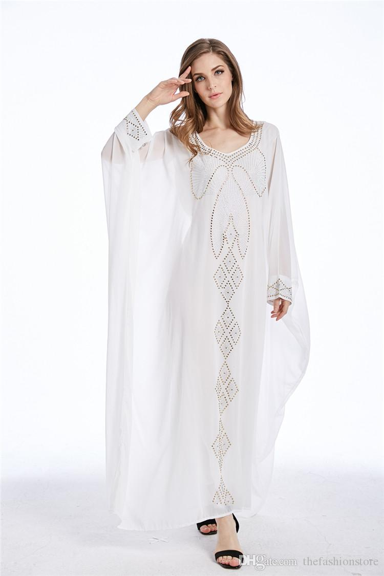 super cheap website for discount 100% top quality 2019 New Arrival Women Casual Kaftan Dress Muslim Women Plus Size Batwing  Sleeve Autumn Women Maxi Dress From Thefashionstore, $24.63 | DHgate.Com